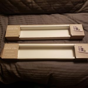 Set of 2 NIB Floating Shelf/Ledge